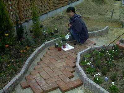 庭 タイル 敷き 方