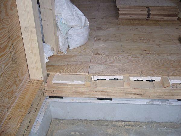 床の下地貼り